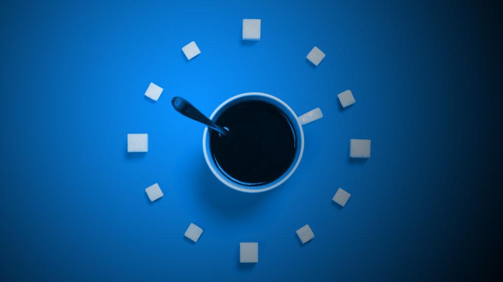 blue digitl clock